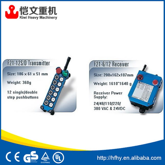 best price crane wireless remote control / radio remote control / telecrane joystick