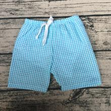 2017 summer kids clothing for boys and girls wholesale boutique teen boy shorts New style fashion Seersucker shorts
