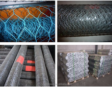 Black PVC Coated hexagonal wire mesh fence