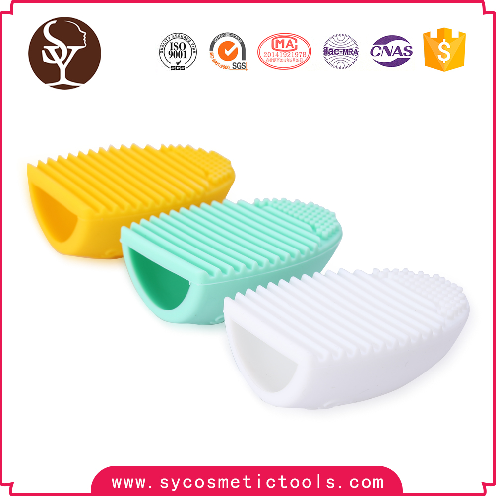 2017 Wholesale egg brush makeup Silicone facial cleanser brush