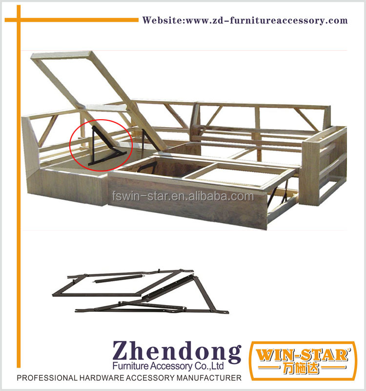 ZD-I013 Functional Folding Metal Mechanism Hinges For Sofa Bed