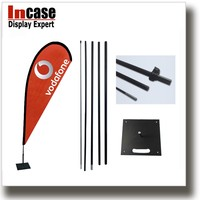 Incase High quality weighted base flag pole with water base