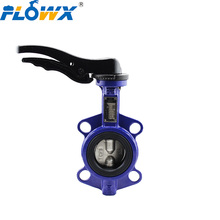 Hand Lever Price Manual Manufacturer 4inch Epdm Seat concentric Wafer Ductile Iron Butterfly Valve