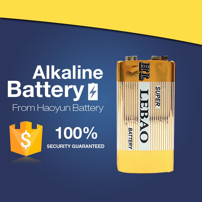 Alibaba OEM Supplies Top Quality China alkaline 9v rechargeable battery for handhold devices