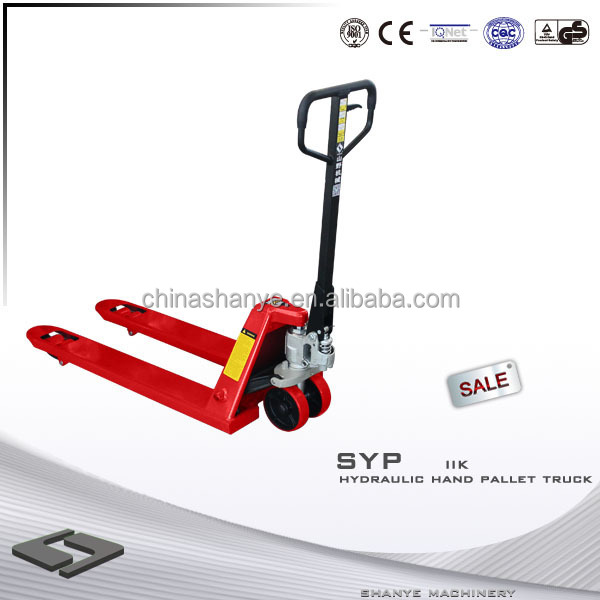 Hot Sale SHANYE manual hydraulic pallet truck light truck 2 ton