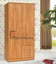 Modern Modular Fair Price Furniture Home Bedroom Simple Design Open Wooden Clothes Small Size Wardrobe