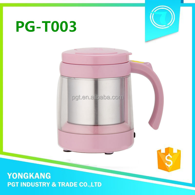 Hot PG-T003 houseware items novelty electric kettle dual shaker cup
