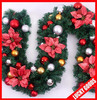 wholesale decorative 2.7m Christmas wreath with red bowtie