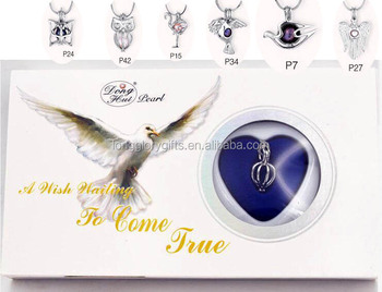 Great Xmas Gift Love Wish pearl necklace bird box kit with vary pendants matched