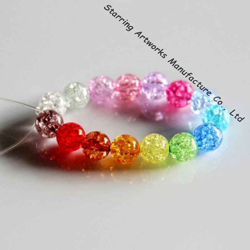 10mm Pretty Cracked Round Shape Gemstone Jewelry Loose Beads