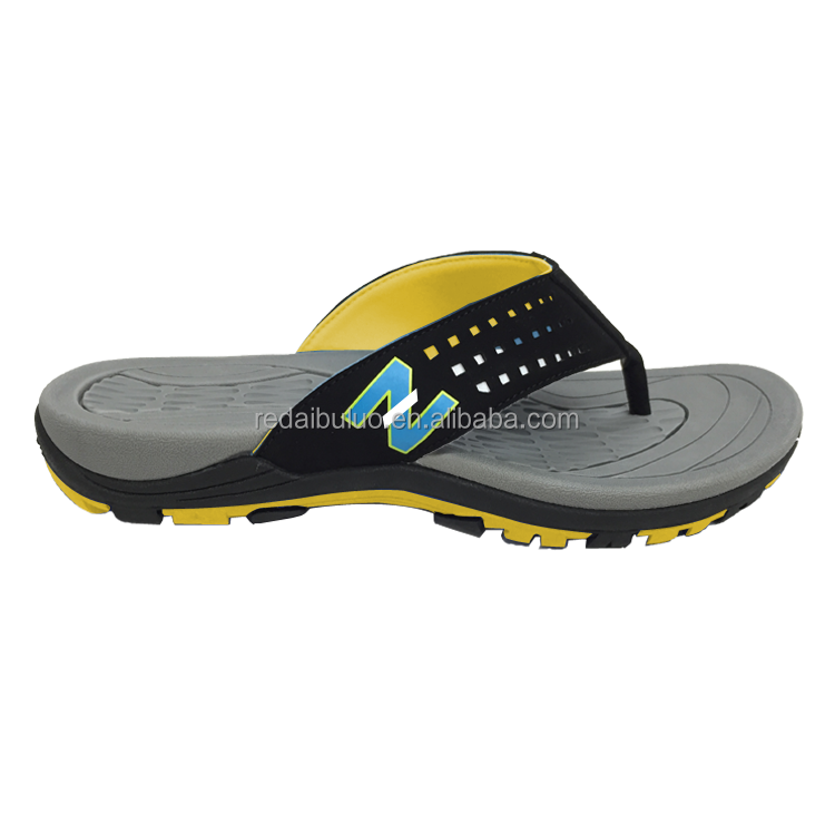 new design sport PU beach footwear flip flops slippers for summer