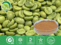 Natural 10%~50% Chlorogenic acids/Green coffee bean extract/Coffea Arabica P.E