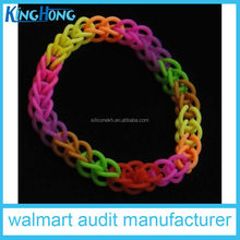 Colorful loom bands 2014 new design of rubber band loom kits OEM