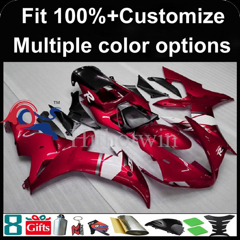 Injection mold red motorcycle cowl for Yamaha YZF-<strong>R1</strong> 2002-2003 <strong>02</strong> <strong>03</strong> YZFR1 2002 2003 <strong>02</strong>-<strong>03</strong> ABS Plastic Fairing