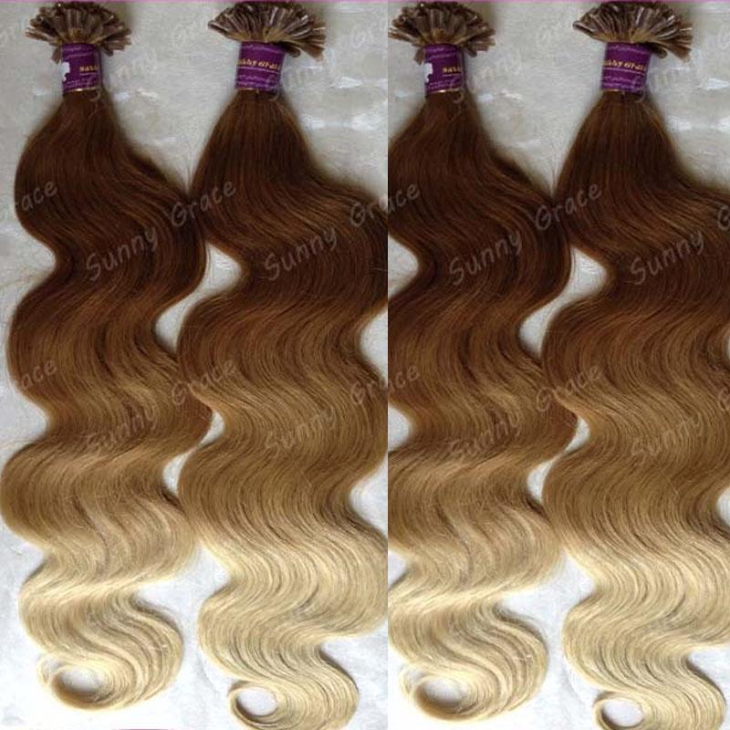 Keratin Nail Tip U Tip Hair Extensions 100glot Human Prebonded U