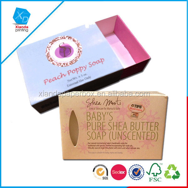 2015 Dongguan factory custom high quality printing soap box with cheap price