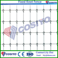 Galvanized Steel Fixed Knot Cattles Field Fencing,High Tenslie Deer Fence