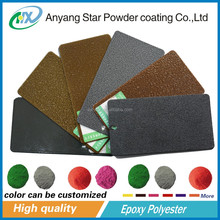 Metal gold hammer polyester powder coatings