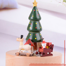 Wooden Hand Made Christmas Musical Box Gift For Kids Toys