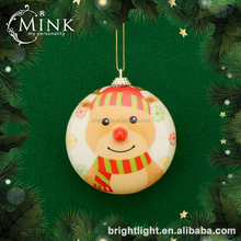 popular styrofoam flat ball christmas decorations with decal