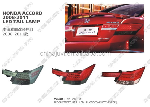 For HONDA ACCORD Auto Lamp Led Tail lights,Car Accessaries parts,2008-2011 MODIFY LAMP/LIGHTS