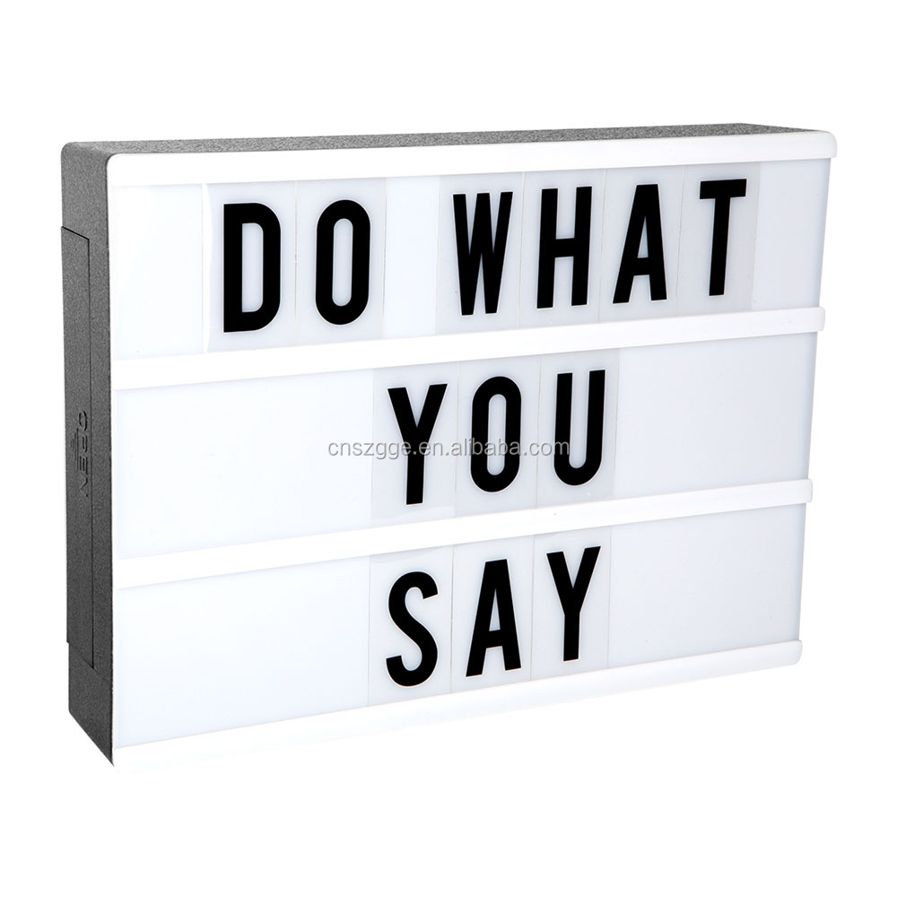 Home Cinema Sign Party Wedding Decoration Xmas Gift USB Cinematic LED Light Box Licht Box New Mini Sign Letter Signs