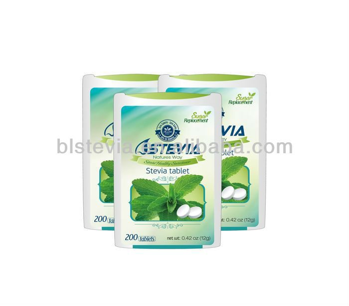 Kosher Halal Organic Stevia Tablet/Stevia Dispenser/ Stevia tablet in Dispenser with Blister Pack