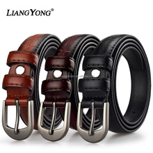 Men Needlepoint Buckle Fashion PU Or Genuine Leather Belt Wholesale Custom Man Elastic Western Brand Smooth Strap Metal Belt