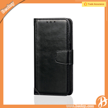 Genuine wallet leather phone cover case for samsung galaxy j7