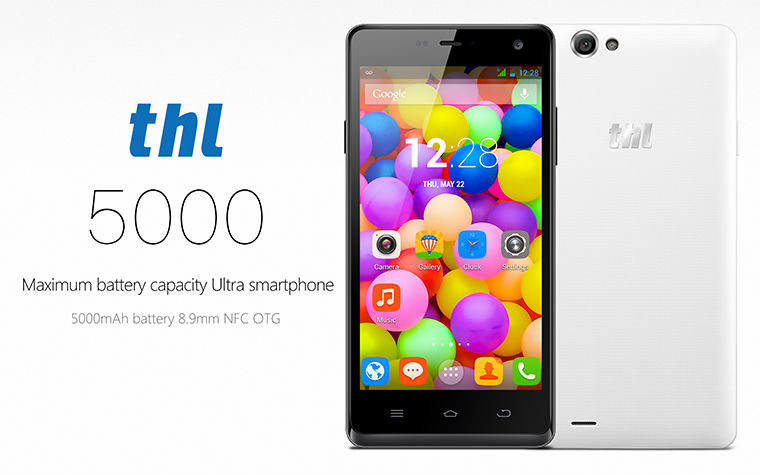 Orignal THL 5000, 5 Inch Touchscreen, 2 GB Ram, 16GB Rom, 5000mAh Battery