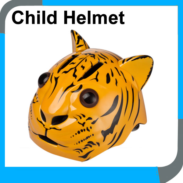 high quality safety animal tiger shape kids bicycle helmets, lovely fashion child bike helmets