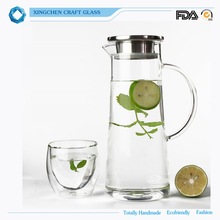 heat resistant glass pot ,kettle hot water glass pitcher
