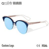 Dioramaclub best metal sunglasses women metal logo custom sunglasses polarized