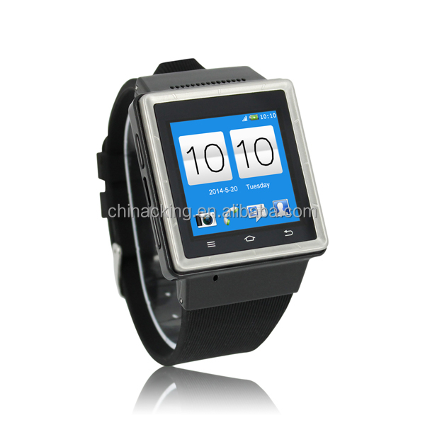 2014 Cheapest MTK6577 dual core 3G android smart watch phone