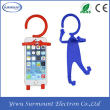 Flexible Hook Cell Phone Holder Multifunction Human Shape Hanger / Phone Silicon Holder for iPhone 4/ 4S