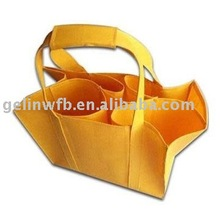 New non woven Wine bottle carrier tote Bag 6 bottles for promotion