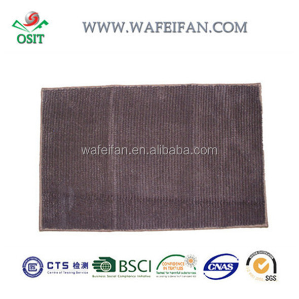 chenille microfiber machine washable chenille loop bathmat