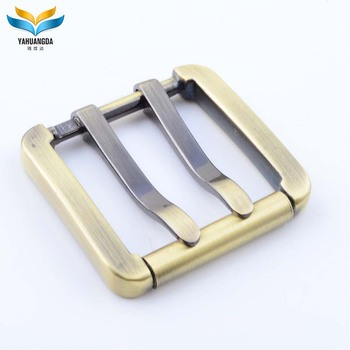 square fashion women leather best sale metal gold pin belt buckle