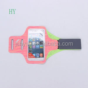 Factory Custom Lycra Waterproof with reflective circle Neoprene phone case running armband