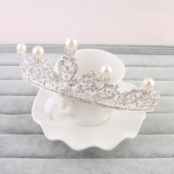 Hot sale birthday party cake topper decoration Tiara princess crown pageant for wedding and party