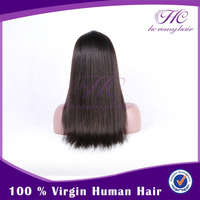 Buy Wholesale Direct From China 100% Cheap Price Lace Front Human Hair Full Lace Wig With Bangs