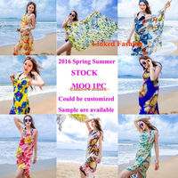 2015 New Design Floral Color Women Beach Fashion Long Beach Hijab Scarf