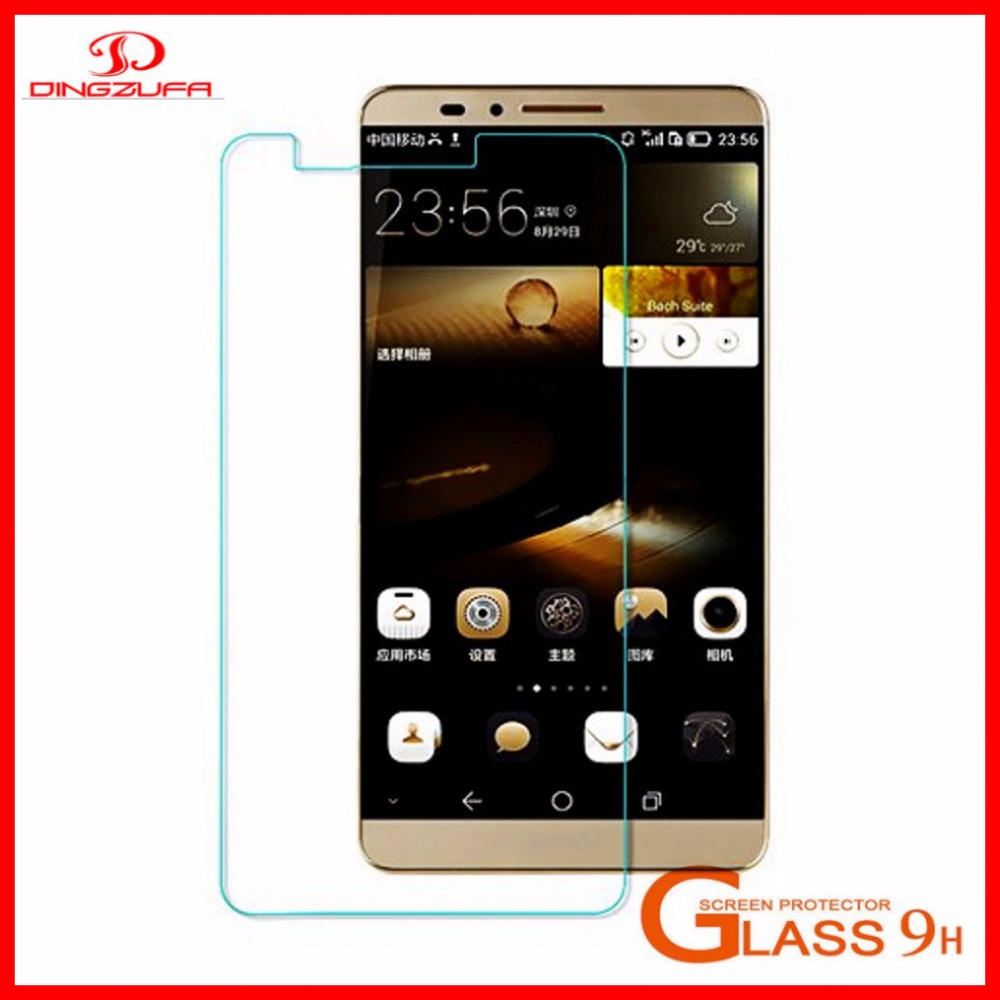 accept OEM High quality 2.5D/0.3mm/9H tempered glass screen protector for HUAWEI mate7