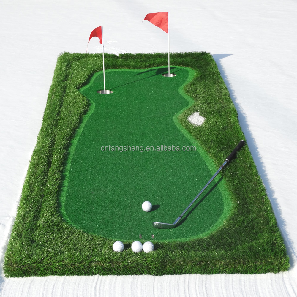 Indoor putting green/Mini golf/golf practice mat for water or island