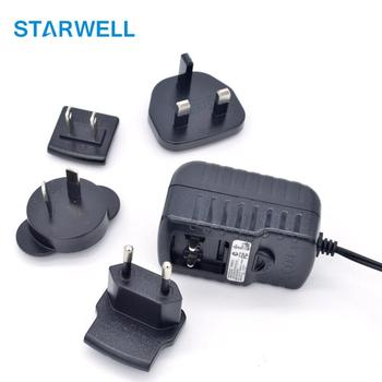 12w 5v 2.4a interchangeable plug power adapter ac power adapter