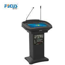 Plastic and steel surface Multimedia Lecterns/Digital Podium, desk/table/computer table/multimedia /pulpits on wheels