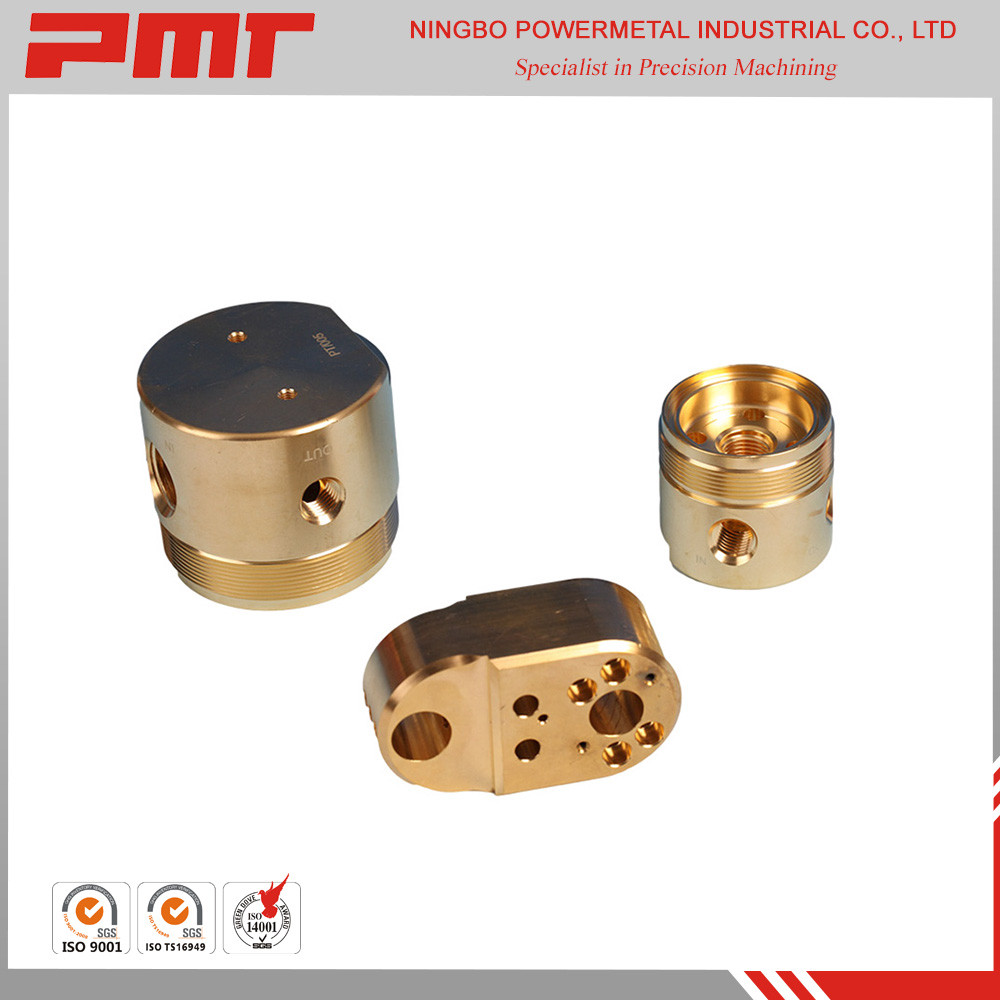 Custom fabrication services brass CNC machining parts
