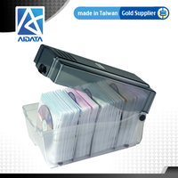 AIDATA Plastic CD DVD Case with Lock