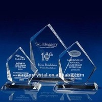 Crystal 3D Laser Engraved Award Plaque