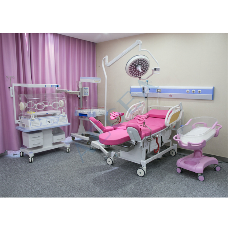 Hospital medical pregnancy women birthing recovery room series products electric obstetric bed
